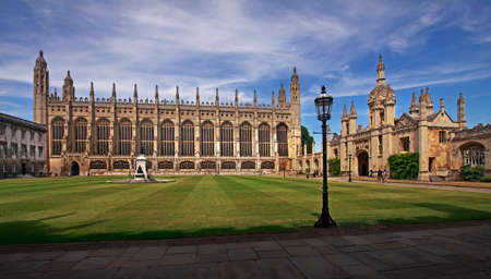 gatehouse: The front court at Kings college in Cambridge, England was not completed for over four hundred years after the building of the chapel.