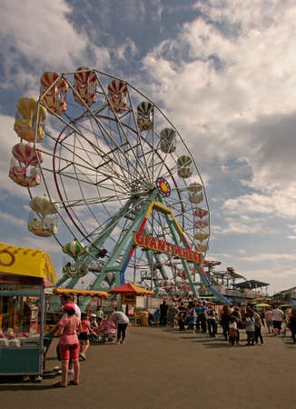 There is a lively funfair at Skegness in Lincolnshire on the East coast of England. Editorial