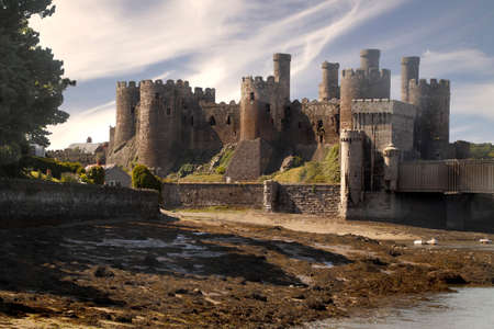 conquered: Conwy Castle was built in the thirteenth century on the orders of King Edward I, soon after the English conquered Wales. Editorial