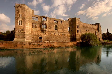 Newark castle on the banks of the river Trent in Nottinghamshire, England was the site of many battles and it was here that King John died in twelve sixteen.