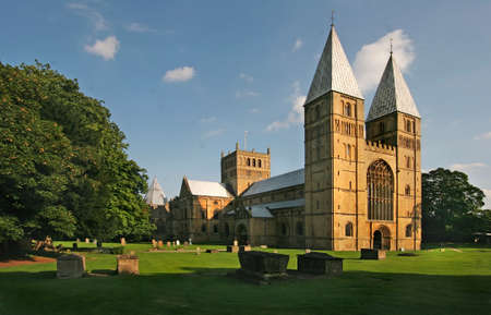 Southwell Minster is the Cathedral of Nottinghamshire, and has been a place of worship for nearly a thousand years. Stock Photo
