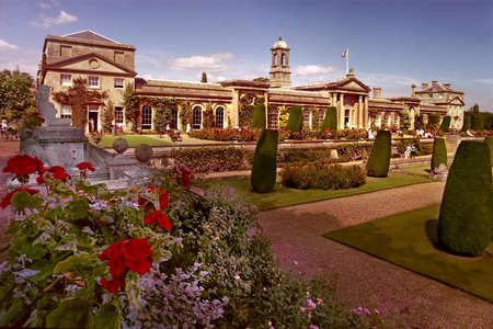 stately: Bowood House in Wiltshire, England is a Georgian country house surrounded by Italianate gardens. Editorial
