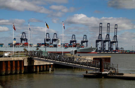 Felixstowe harbour is one of Britains largest depots dealing with imports and exports.