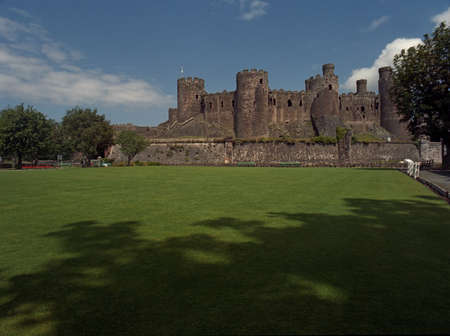 king edward: Conway Castle on the north coast of Wales was built in the thirteenth century by King Edward I Editorial