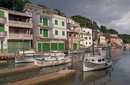 sheltered: The harbour at Cala Figuera in Majorca, Spain, is well sheltered from the open sea
