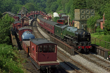 This station on the North Yorkshire Moors steam railway is at Goathland  It was often seen on the television series called Heartbeat