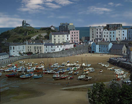 tenby wales: Tenby in Pembrokeshire, South Wales is a popular seaside holiday resort