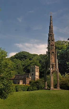 stourhead: Bristol High Cross originally erected in Bristol, now stands near the church in Stourhead Gardens, in Wiltshire, England