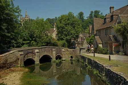 wiltshire: Castle Combe in the Cotswolds, Wiltshire, is often described as the prettiest village in England