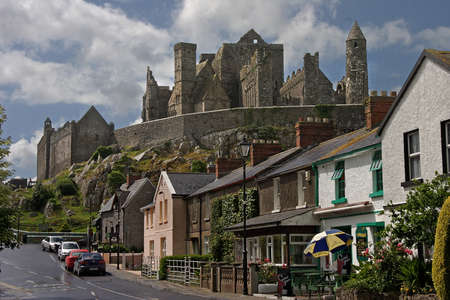 imposing: The imposing ruins of the Rock of Cashel stand high above the town in County Tipperary, Ireland. Editorial