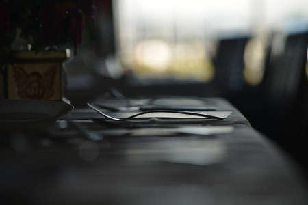 Quiet afternoon in a restaurant