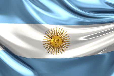 Flag of Argentina. Stock Photo
