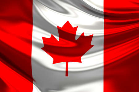 canadian flag: Flag of Canada. Stock Photo