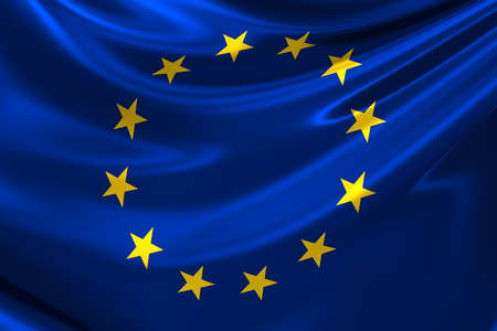 anthem: Flag of Europe. Stock Photo