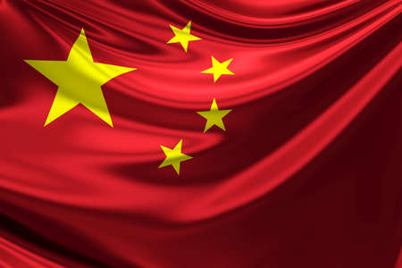 chinese flag: Flag of China. Stock Photo