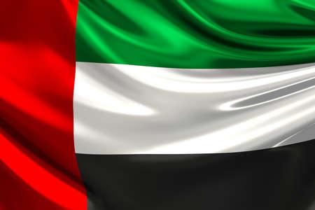 arab flags: Flag of the United Arab Emirates. Stock Photo
