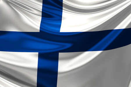 finland: Flag of Finland. Stock Photo