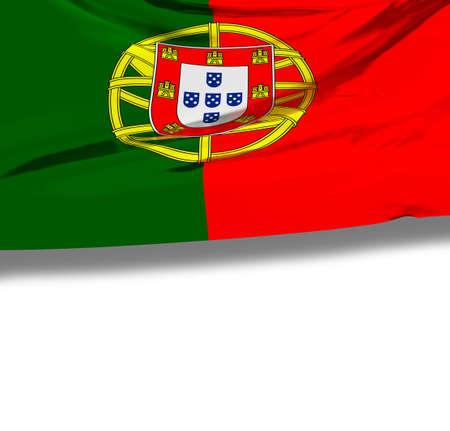 drapeau portugal: Drapeau du Portugal avec un espace vide pour votre texte.