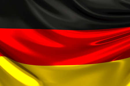 silky: Flag of Germany. Stock Photo