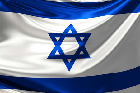 and israel: Flag of Israel. Stock Photo
