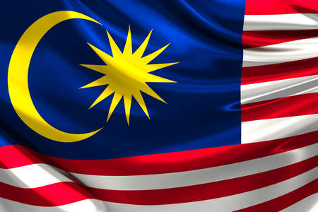 말레이시아의 국기. 스톡 콘텐츠