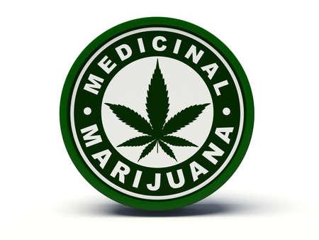 drug dealer: Medicinal marijuana. 3d illustration. Stock Photo