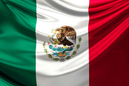 mexican flag: Flag of Mexico. Stock Photo