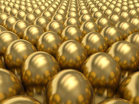 opulence: Golden eggs. 3d render illustration.
