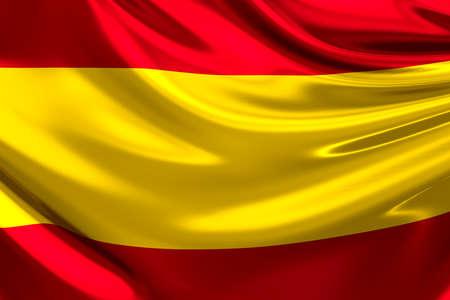 spain: Flag of Spain. Stock Photo