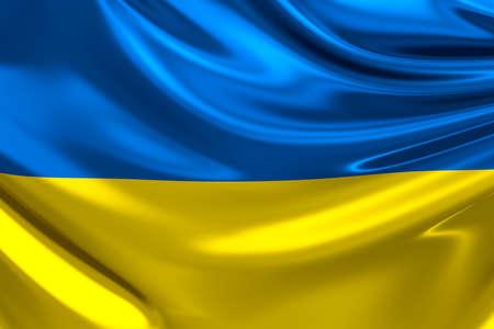 Flag of Ukraine. photo