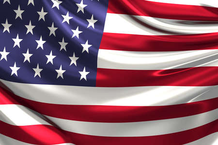 united states flag: Flag of the USA. Stock Photo