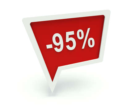 95: Bubble speech advertising sign - 95%