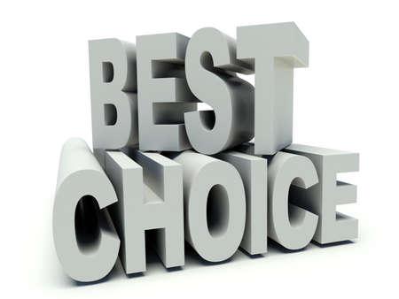 Advertising words Best choice. 3d render illustration.