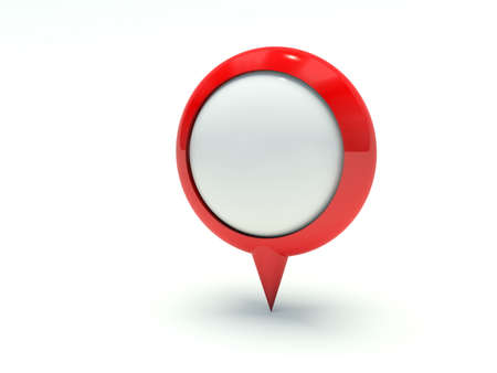 localization: Map pointer in red. 3d render illustration.