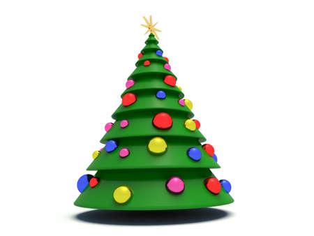 Christmas tree. 3d render illustration.