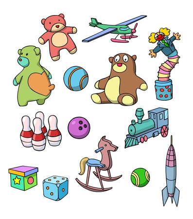 Set of toys. Vector illustration. Vector
