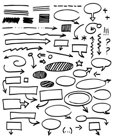Set of graphic signs. Vector illustration. illustration