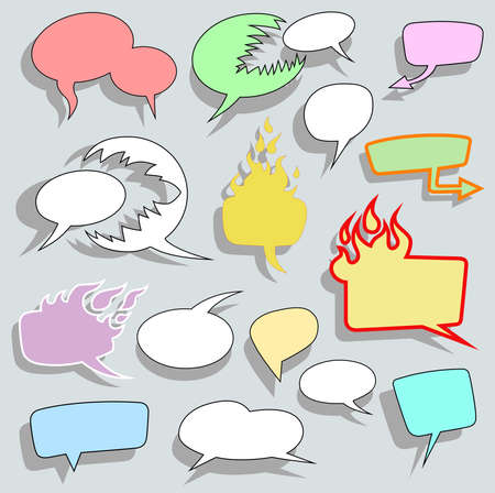 swearing: Set of different blank bubble speech design. Vector illustration.