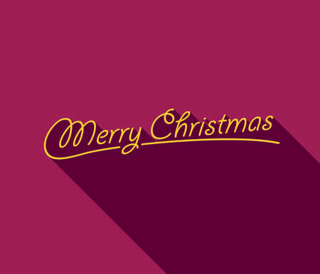 fuschia: Merry Christmas Greeting Card. Vector illustration.