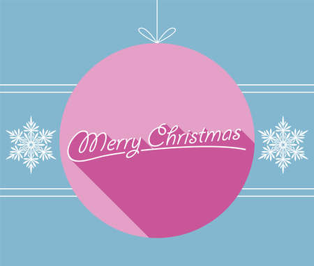 Merry Christmas Greeting Card. Vector