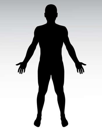 Human silhouette. Stock Illustratie