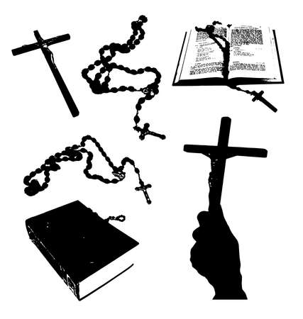 rosary: Christian signs.