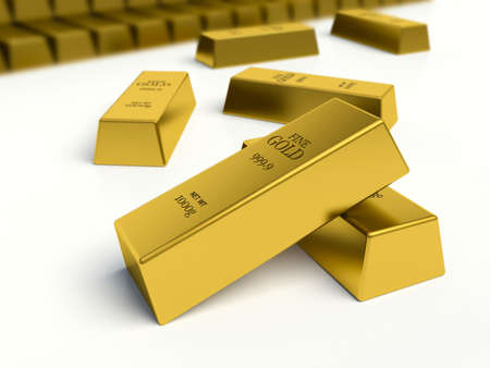 reserves: Gold bars. reserves concept.