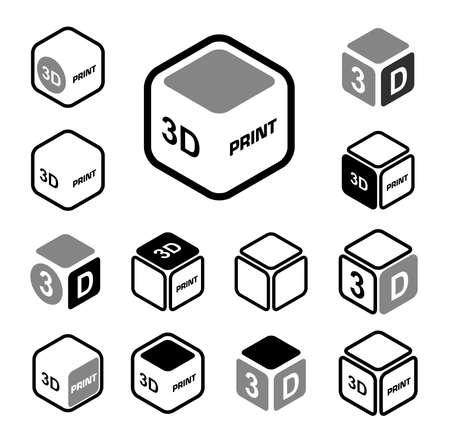 filament: 3D print icon set