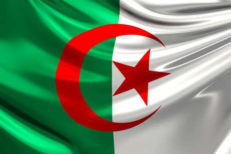algeria: Flag of Algeria.