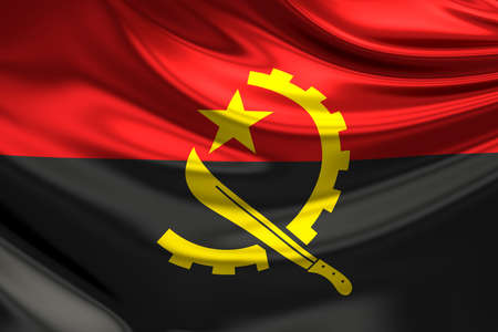 angola: Flag of Angola.