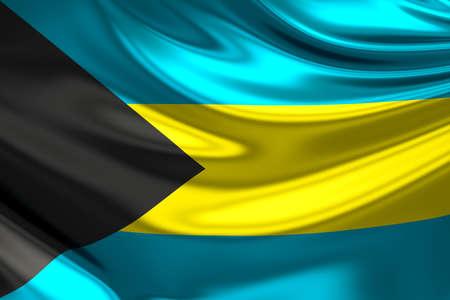 anthem: Flag of the Bahamas. Stock Photo