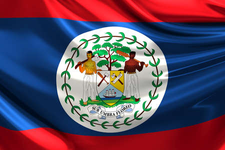 rn3d: Flag of Belize. Stock Photo