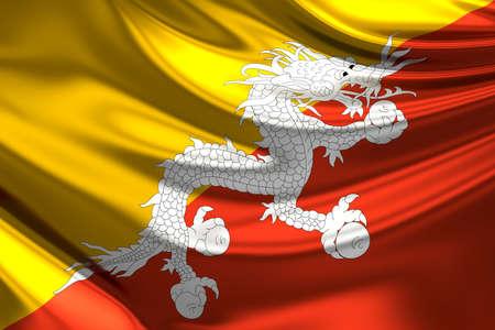 bhutan: Flag of Bhutan.
