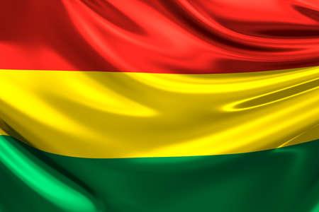 anthem: Flag of Bolivia. Stock Photo
